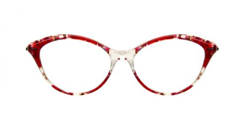 Illesteva Cecille Optical - Red Clear Marble - 52 mm