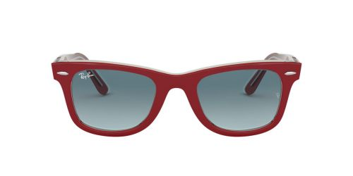 Ray-Ban RB2140 WAYFARER - 12963M - Red On Transparent Grey - 50 mm
