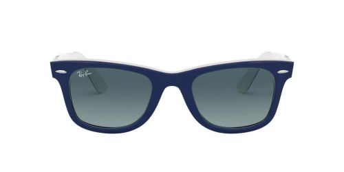 Ray-Ban RB2140 WAYFARER - 12993M - Blue On White - 50 mm