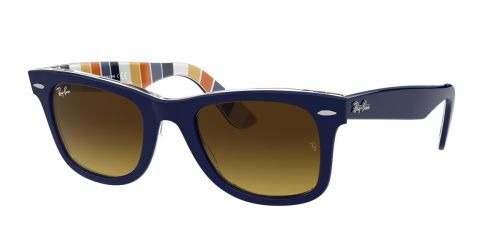 Ray-Ban RB2140 WAYFARER - 132085 - Blue On Stripes Orange/Blue - 50 mm
