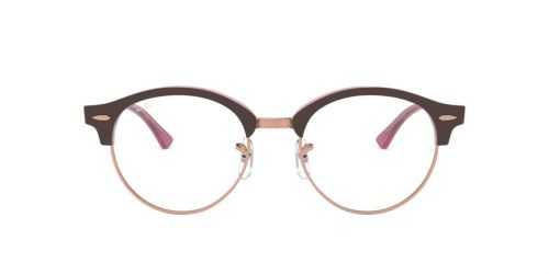 Ray-Ban RX4246V CLUBROUND - 5886 - Top Brown On Opal Pink - 47 mm