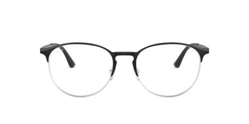 Ray-Ban RX6375 - 2861 - Black On Silver - 51 mm