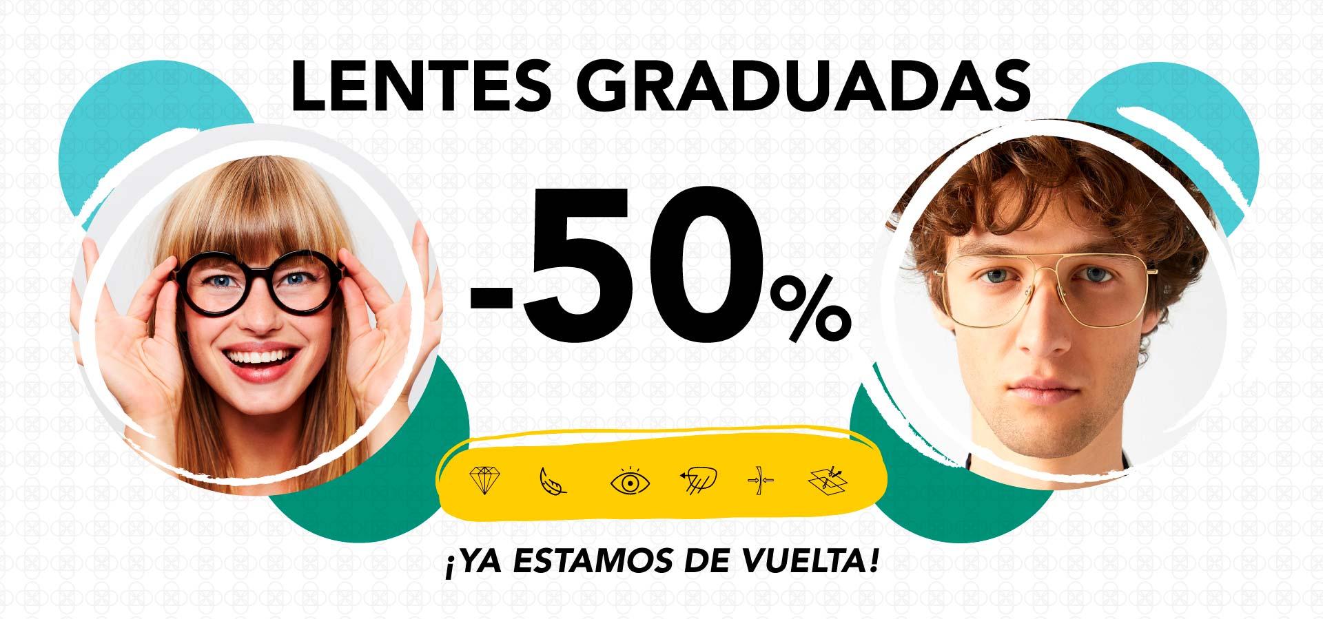Lentes Graduadas -50% Descuento